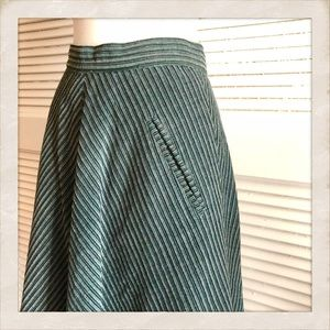 Great Vintage 1970's Full Skirt, Made in Italy